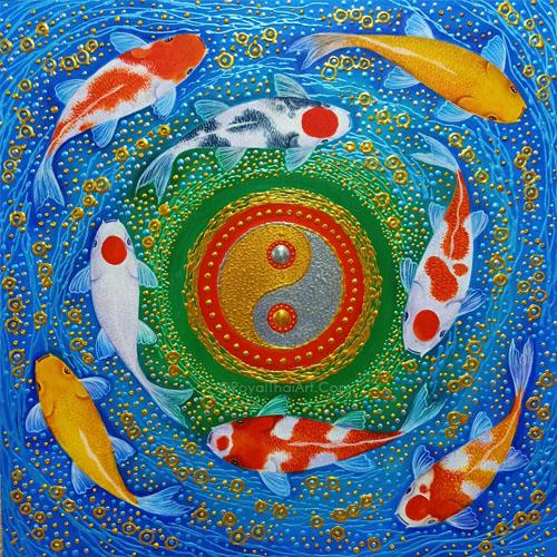 koi fish canvas wall art koi painting for sale koi art for sale coy fish painting yin yang koi fish art yin yang koi fish painting