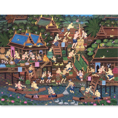 thailand culture art folk arts thai painting thailand painting thailand artwork thai artwork thai wall art thai traditional painting for sale