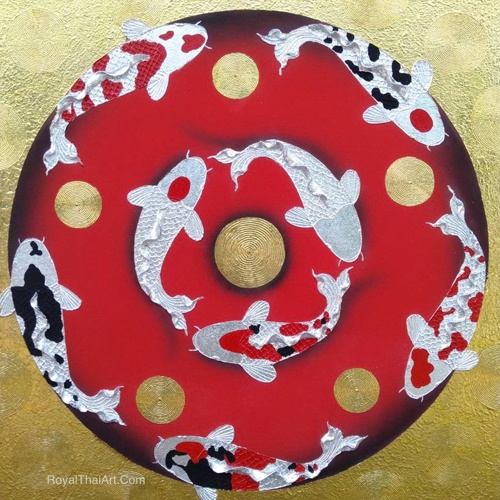 3d koi fish painting coy fish painting koi fish acrylic painting koi fish art koi art feng shui koi fish art for sale