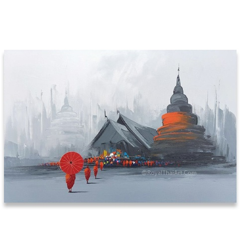 chiang mai temple painting thai temple painting thai temple art modern buddhist paintings thailand arts and paintings for sale