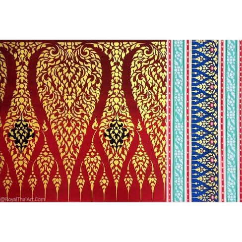 ancient thai pattern art painting traditional thai pattern design artwork popular thai art best thailand artworks for sale online