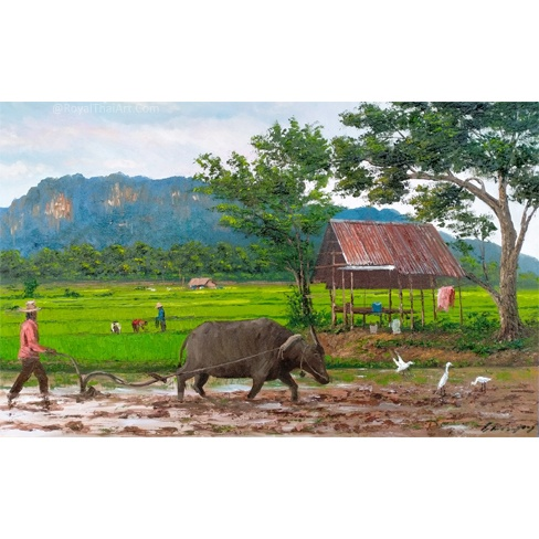 country painting country wall art country scene wall art country scene paintings country paintings on canvas thailand paintings for sale