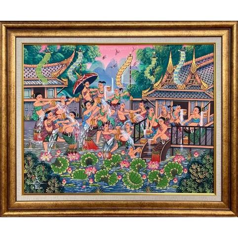 songkran thai folk art thailand folk arts thailand art traditional thai art paintings for sale best artists in thailand