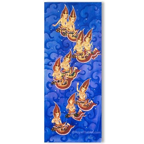 thai angel painting thai art traditional thailand art paintings for sale online royal thai art