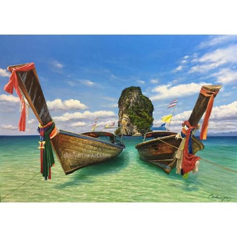 thailand canvas art beach painting ocean painting beach wall art coastal wall art coastal artwork beach scene painting beach canvas art beach acrylic painting beach canvas wall art