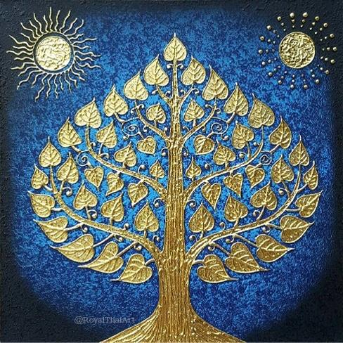 bodhi tree fine art bodhi tree painting bodhi tree wall art bodhi tree decor buddha bodhi tree art