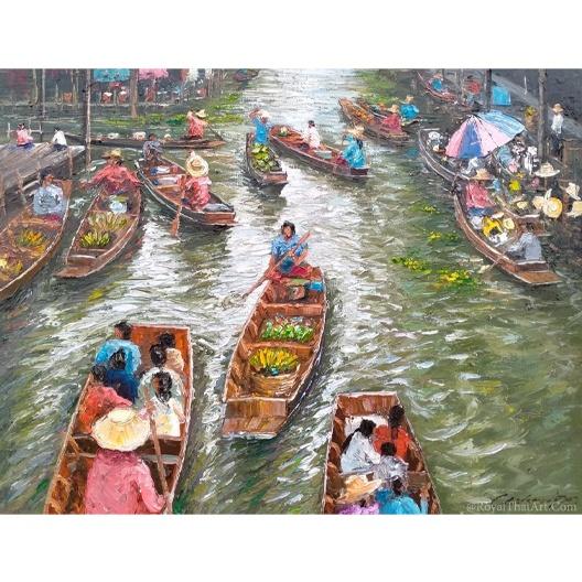 floating market painting floating market art market painting market artwork market art world market art