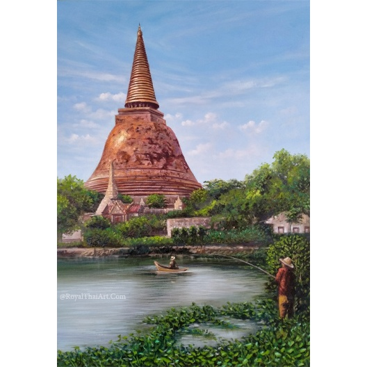 thai pagoda painting pagodas for sale chinese pagoda paintings pagoda art traditional thai art oil paintings for sale pagoda buddhism