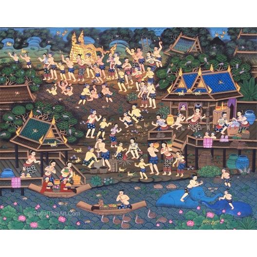 rocket festival thailand art traditional thai art royal thai art thai painting thailand artwork thailand painting thai artwork thai wall art thailand wall art