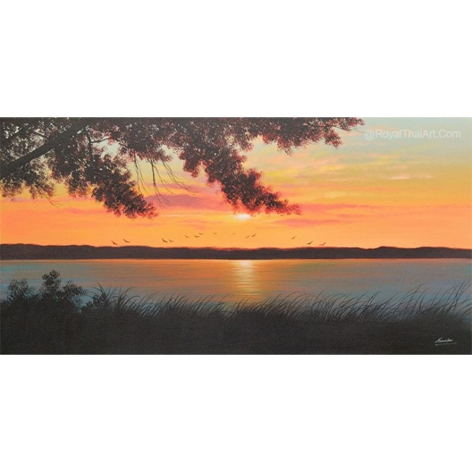 sunset canvas painting sunset painting sunset art landscape painting nature painting sunset painting easy famous landscape paintings