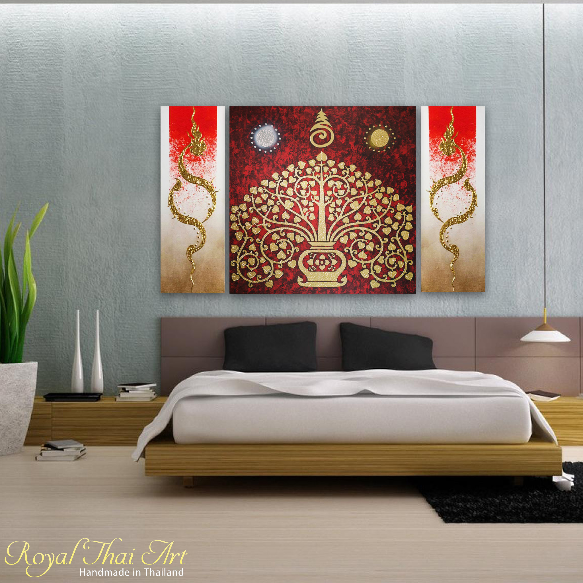 Oriental Tree Art From Famous Asian Paintings Gallery | Royal Thai Art