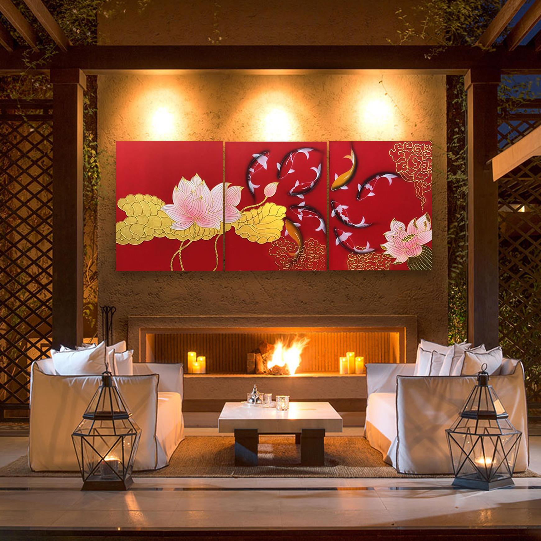Shop for Thai Paintings Japanese Koi Art l Stunning Asian Wall Art ...