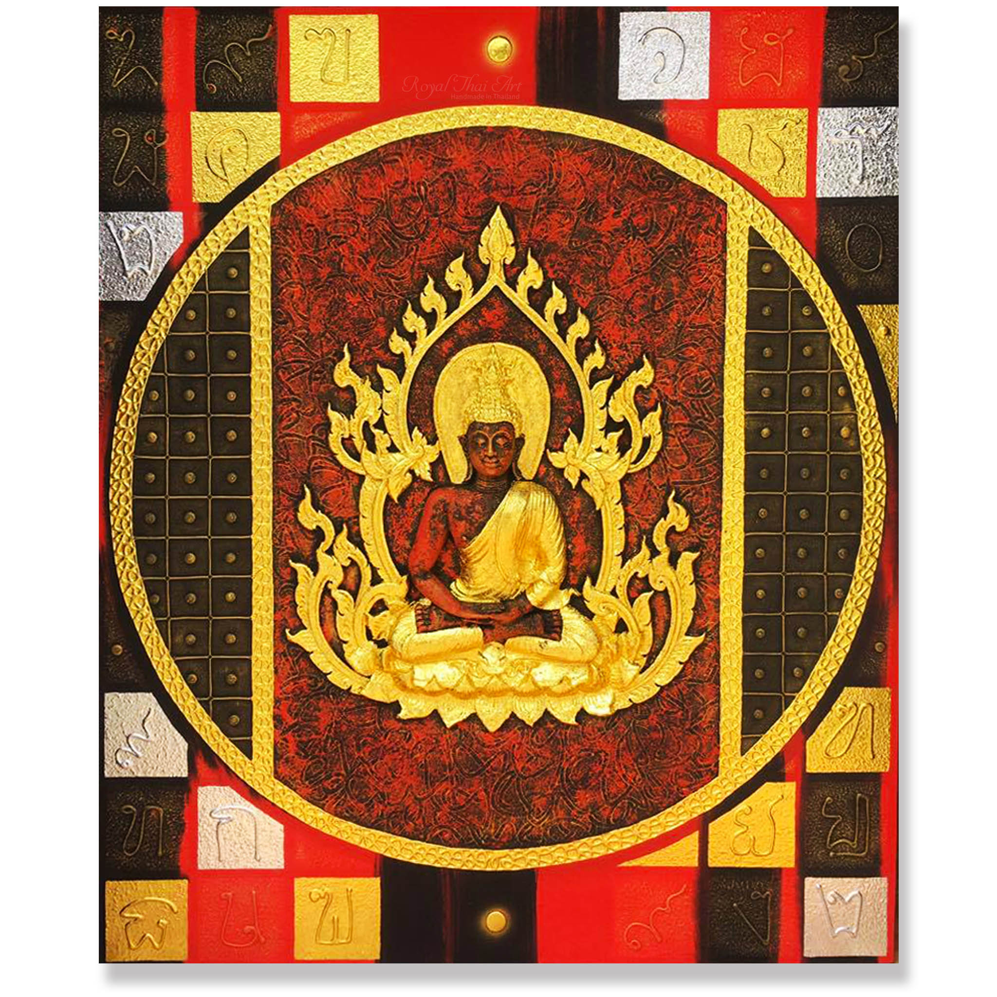 Buddha wall art in 3D acrylic paintings for sale online | Royal Thai Art